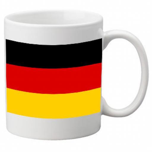 Germany Flag Ceramic Mug 11oz Mug, Great Novelty Mug