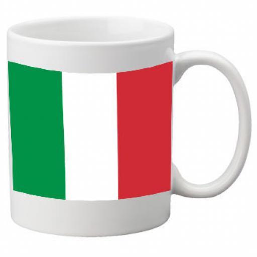 Italy Flag Ceramic Mug 11oz Mug, Great Novelty Mug