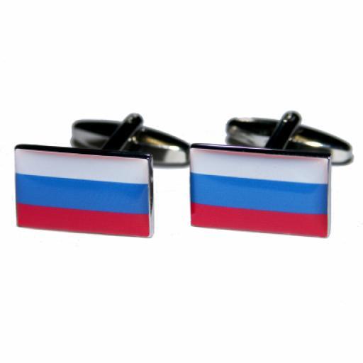 Russian Federation Flag Cufflinks (BOCF44)