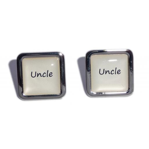 Uncle Ivory Square Wedding Cufflinks