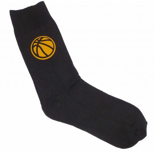 Basket Ball Socks - Perfect for the Sportsman, Great Novelty Gift Socks Luxury Cotton Novelty Socks Adult size UK 6-12 Euro 39-49
