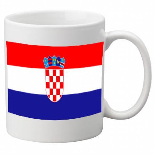 Croatia Flag Ceramic Mug 11oz Mug, Great Novelty Mug