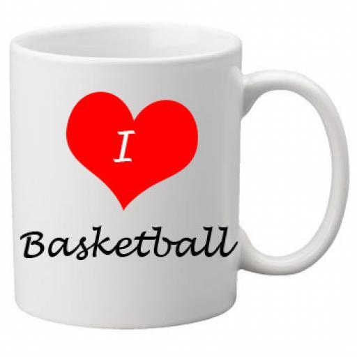 I Love BasketBall 11oz Ceramic Mug