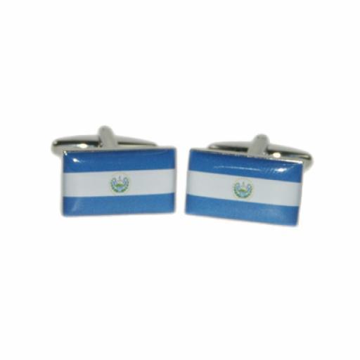 Elsalvador Flag Cufflinks (BOCF86)