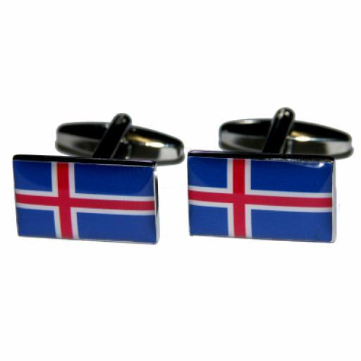 Iceland Flag Cufflinks (BOCF39)