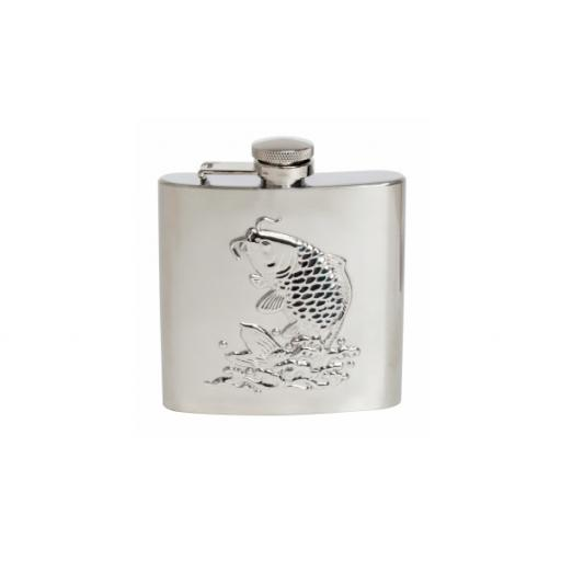 Embossed Fish Hip Flask - 6oz in Shiny Stainless Steel All our cufflinks come presented in a gift box