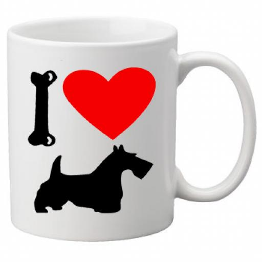 I Love Scottish Terrier, Scottie Dogs on a Quality Mug, Birthday or Christmas Gift Great Novelty 11oz Mug