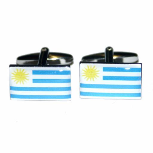 Uruguay Flag Cufflinks (BOCF3)