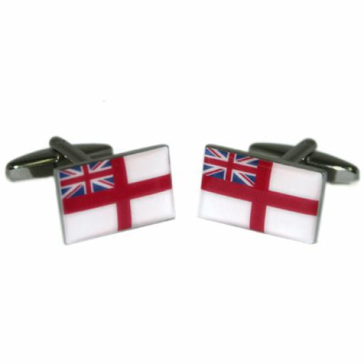 White Ensign Flag Cufflinks (BOCF61)