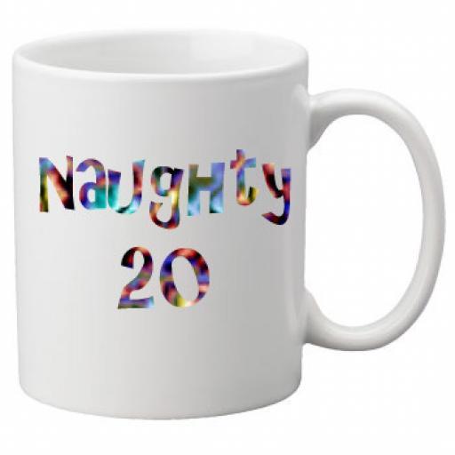 Naughty 20th Birthday Celebration Mug 11oz Mug, Great Novelty Mug, Celebrate Your 20th Birthday