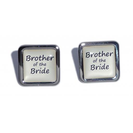 Brother of the Bride Ivory Square Wedding Cufflinks