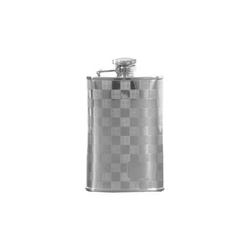Hip Flask, 3 5oz Stainless Steel, Chequered Design With Engraving Space All our cufflinks come presented in a gift box