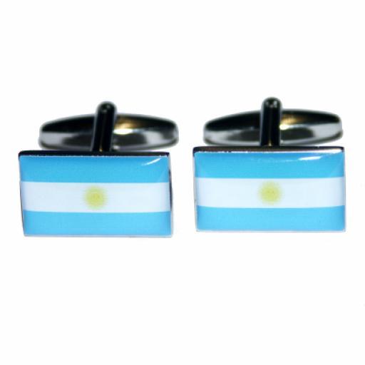 Argentina Flag Cufflinks (BOCF5)