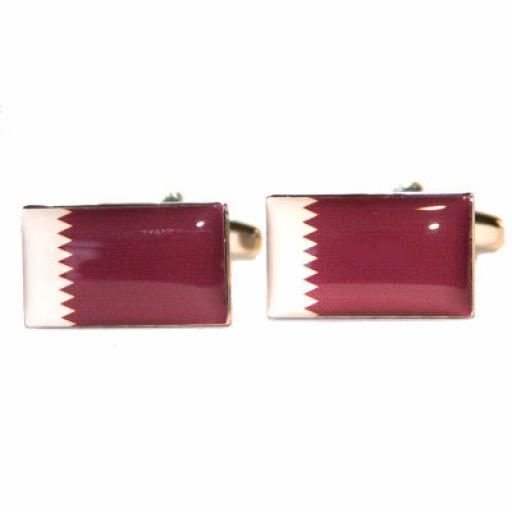Qatar Flag Cufflinks (BOCF53)