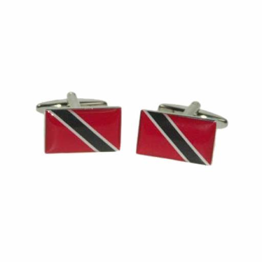 Trinidad & Tobago Flag Cufflinks (BOCF112)