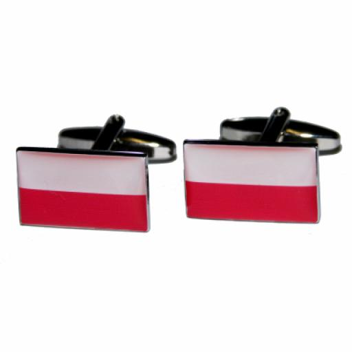 Poland Flag Cufflinks (BOCF43)
