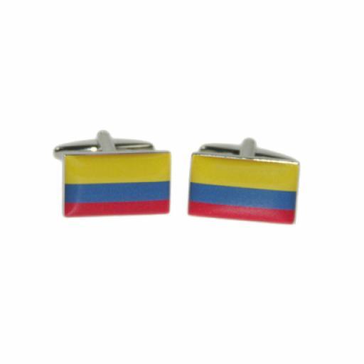 Colombia Flag Cufflinks (BOCF82)