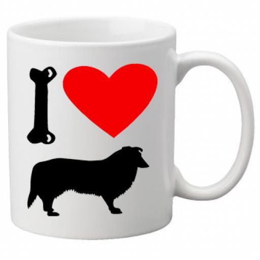 I Love Collie Dogs on a Quality Mug, Birthday or Christmas Gift Great Novelty 11oz Mug