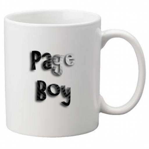 Page Boy - 11oz Mug, Great Novelty Mug, Celebrate Your Wedding In Style Great Wedding Accessory