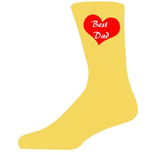 Best Dad in in the World on Blue Socks, Lovely Birthday Gift Adult size UK 6-12 Ideal for a Christmas, birthday or anytime gift