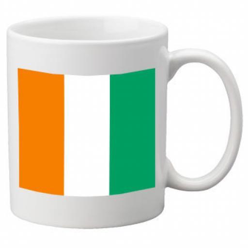 Cote d'Ivoire Flag Ceramic Mug 11oz Mug, Great Novelty Mug