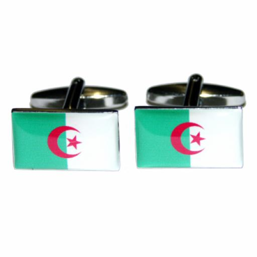 Algeria Flag Cufflinks (BOCF11)