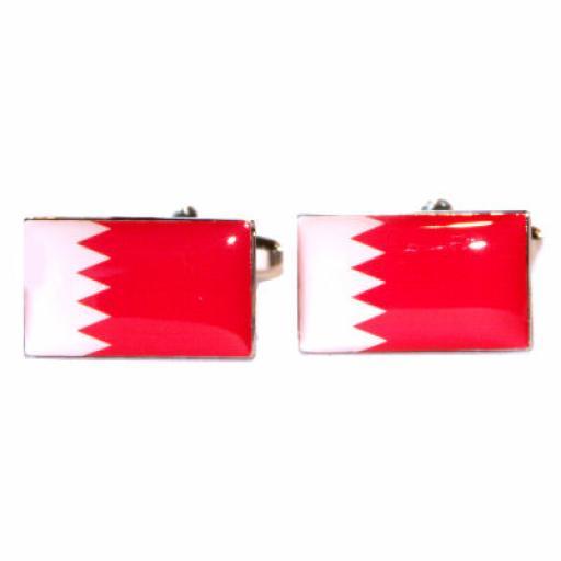 Bahrain Flag Cufflinks (BOCF52)