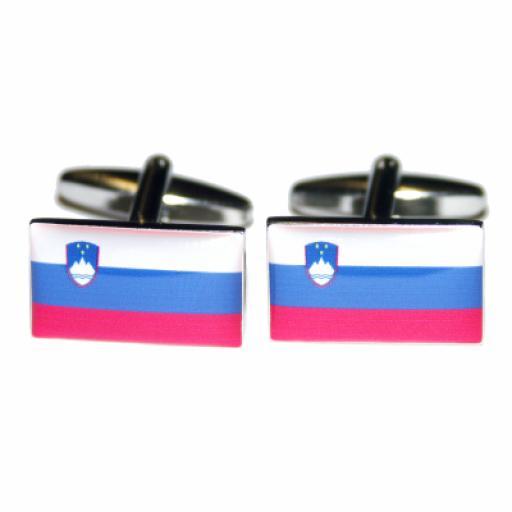 Slovenia Flag Cufflinks (BOCF12)