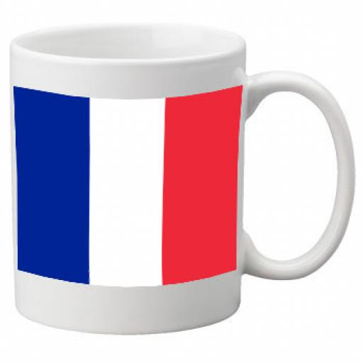 France Flag Ceramic Mug 11oz Mug, Great Novelty Mug
