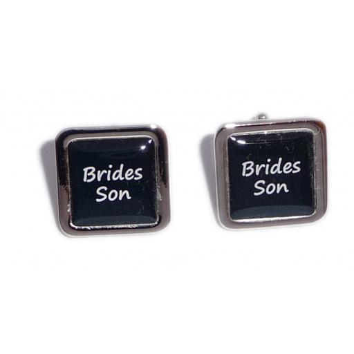 Brides Son Black Square Wedding Cufflinks