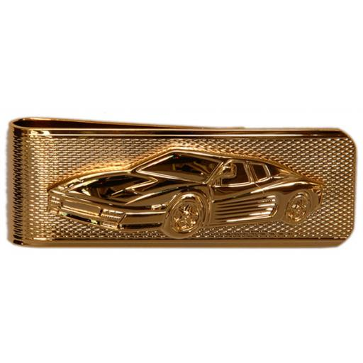 Money Clip Ferrari on barley design - Gold plate A Great High Quality Product