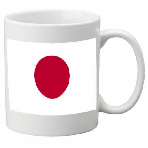 Japan Flag Ceramic Mug 11oz Mug, Great Novelty Mug