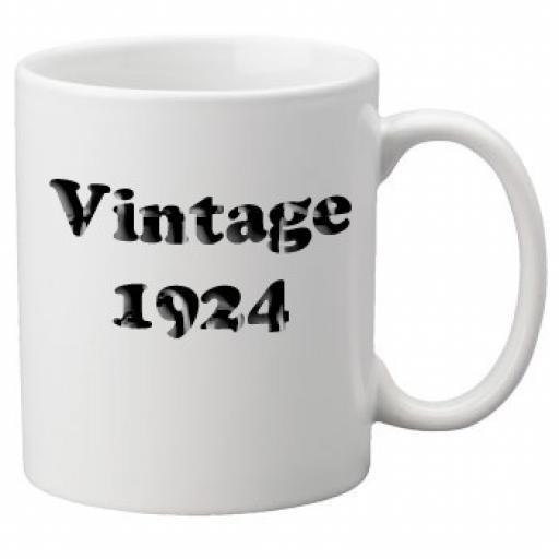 Vintage 1924 - 11oz Mug, Great Novelty Mug, Celebrate Your 90th Birthday