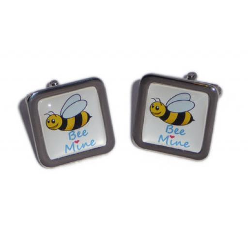 """Bee Mine'' cufflinks"