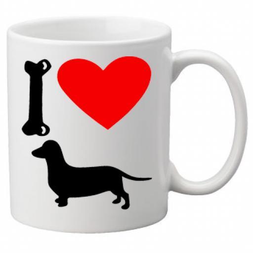 I Love Daschund Dogs on a Quality Mug, Birthday or Christmas Gift Great Novelty 11oz Mug