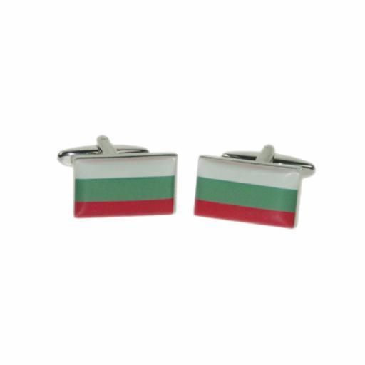 Bulgaria Flag Cufflinks (BOCF79)
