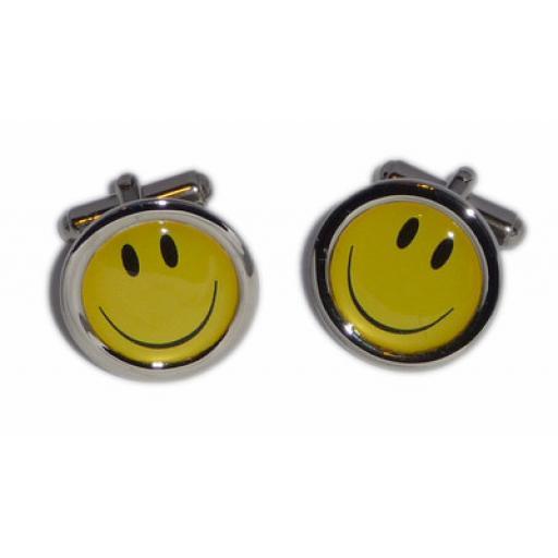 Smiley Face cufflinks - Yellow