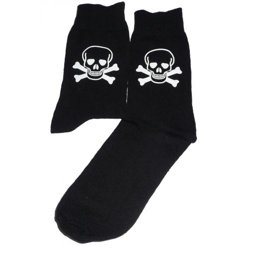 Skull & Crossbones Socks, Great Novelty Gift Socks Luxury Cotton Novelty Socks Adult size UK 6-12 Euro 39-49