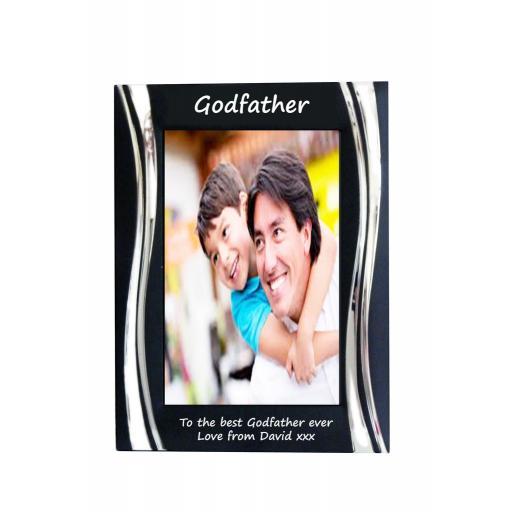 Godfather Black Metal 4 x 6 Frame - Personalise this frame - Free Engraving
