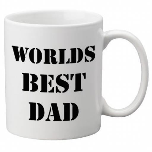 Worlds Best Dad (Black Colour Design) 11oz Mug