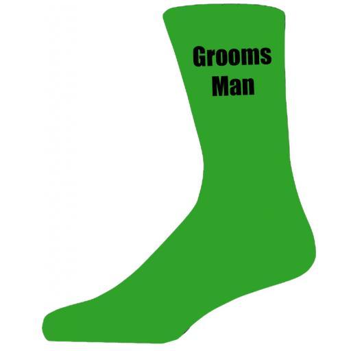 Green Wedding Socks with Black Grooms Man Title Adult size UK 6-12 Euro 39-49