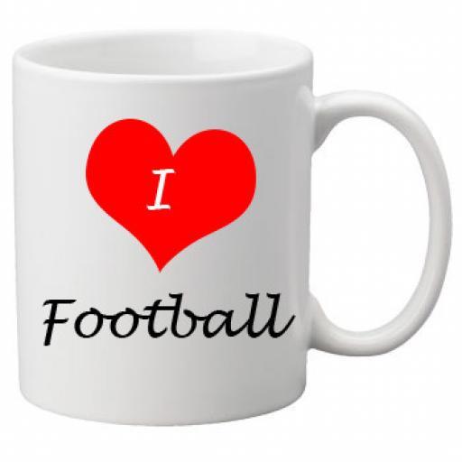 I Love Football 11oz Ceramic Mug
