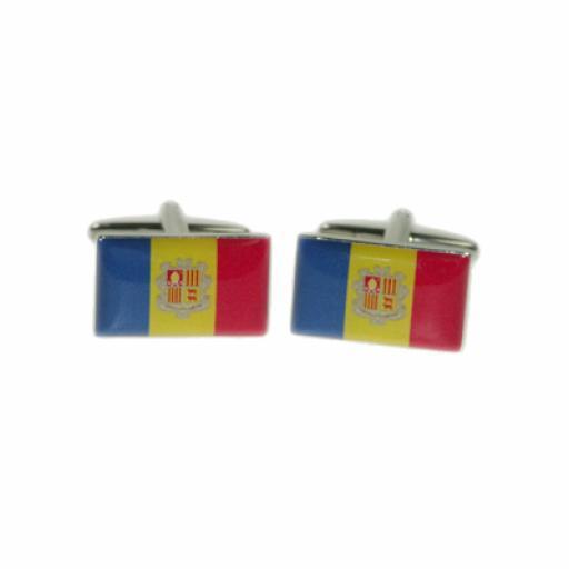 Andorra Flag Cufflinks (BOCF73)