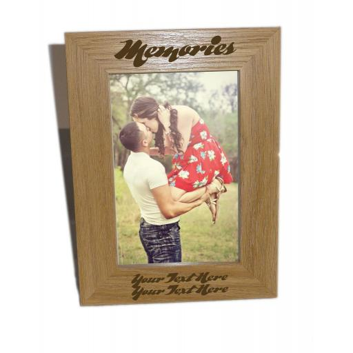 Memories Wooden Photo Frame 4x6 - Personalise This Frame - Free Engraving - Please email glamgifts50@yahoo co uk