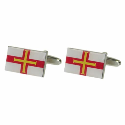 Guernsey Flag Cufflinks (BOCF70)