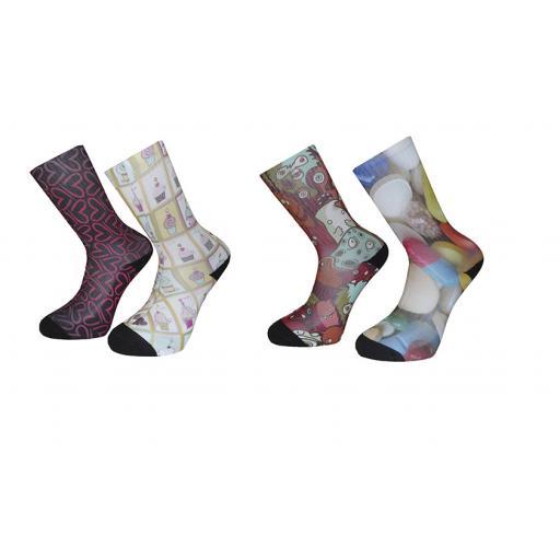 Design Your Own Novelty Socks-Mens/Ladies Socks - Personalised Socks (UK Adult Size 6-12)