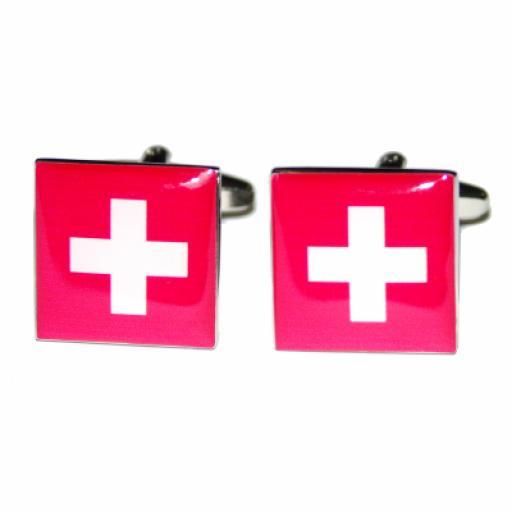 Switzerland Flag Cufflinks (BOCF30)