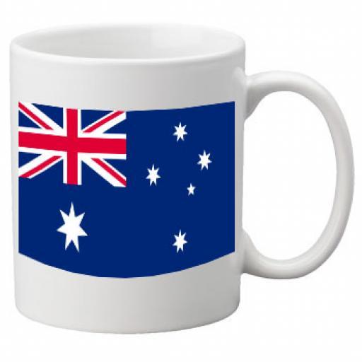 Australia Flag Ceramic Mug 11oz Mug, Great Novelty Mug