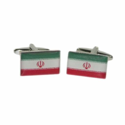 Iran Flag Cufflinks (BOCF92)