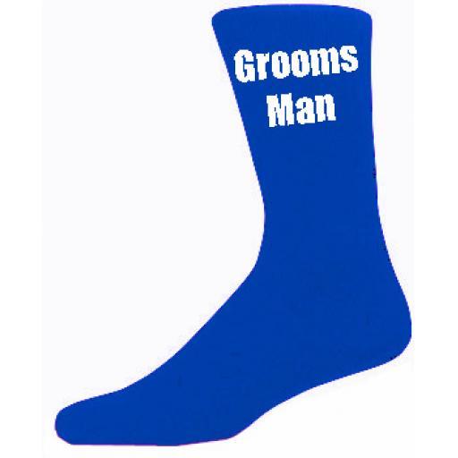 Blue Mens Wedding Socks - High Quality Groomsman Blue Socks (Adult 6-12)